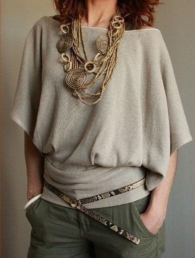 Сшить блузки с руками летучая мышь 157