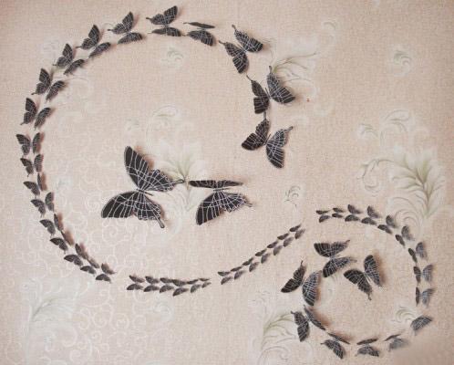 Своими руками бабочки на стене