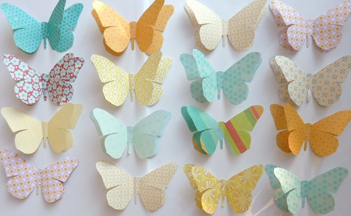 Как можно сделать бабочки на стену