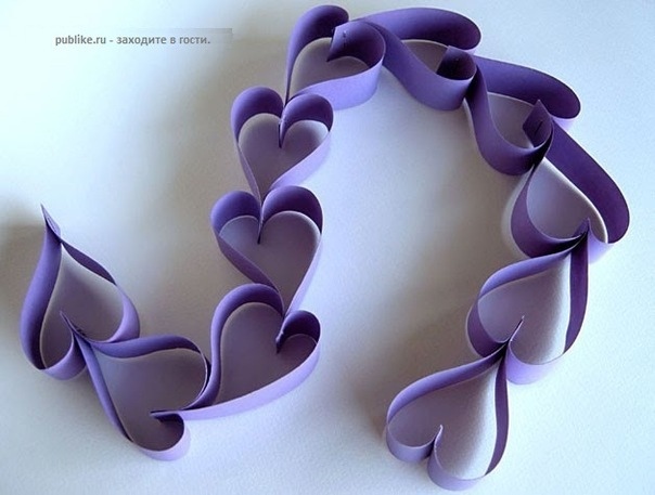 Гирлянда в виде сердечек
