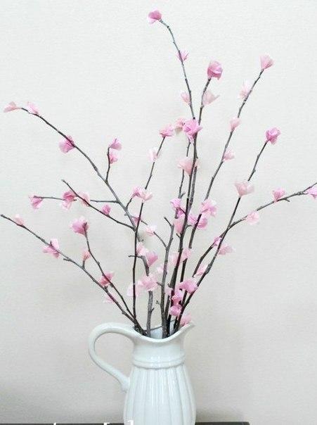 Как сделать веточки и на них цветы