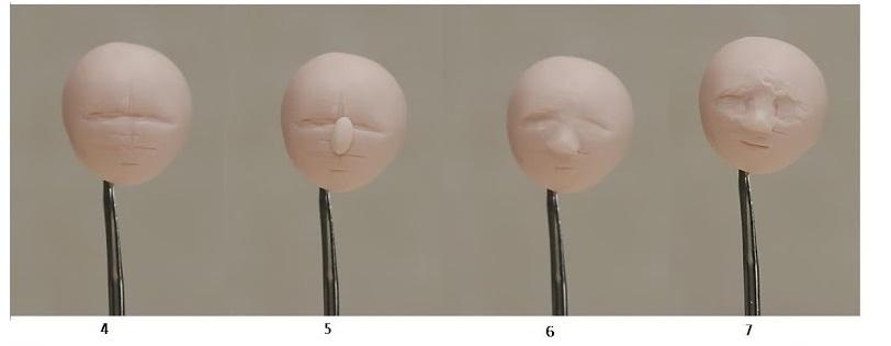 Мастер-класс - лепка головы куклы