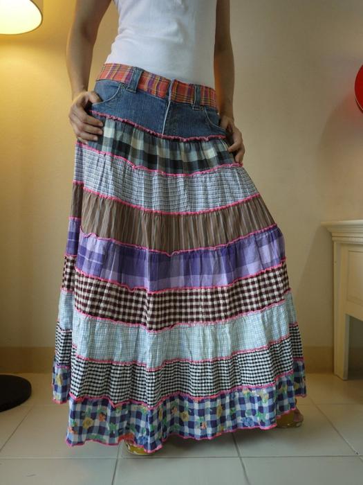 Переделка юбки на сарафан