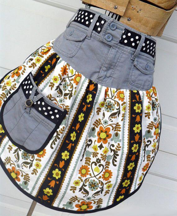 Сшить юбку из старых джинсов своими руками