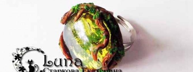 Кольца из полимерной глины