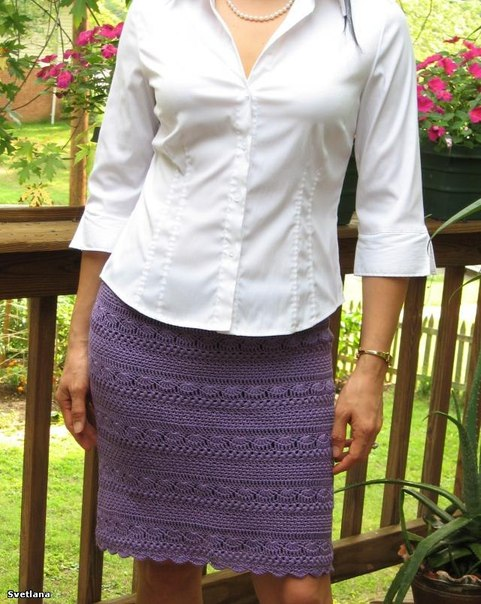 Вот так юбка вязанная крючком