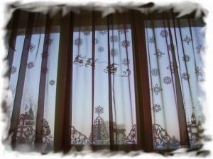 Новогодняя сказка на окне