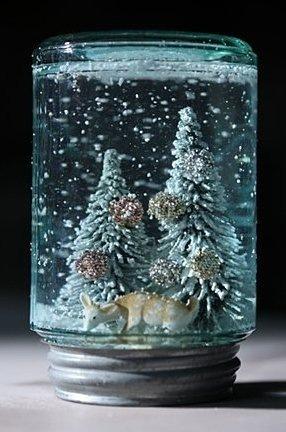 Баночка со снегом