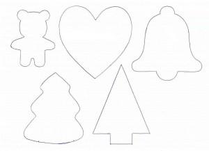 трафареты из бумаги для ёлочных игрушке