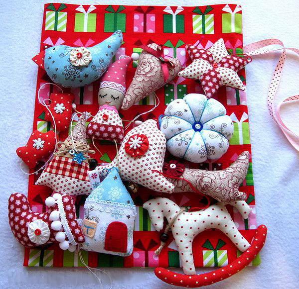 Текстильные новогодние игрушки своими руками выкройки фото 918