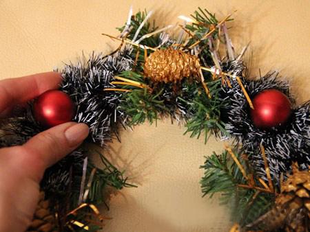 Рождественский венок на дверь