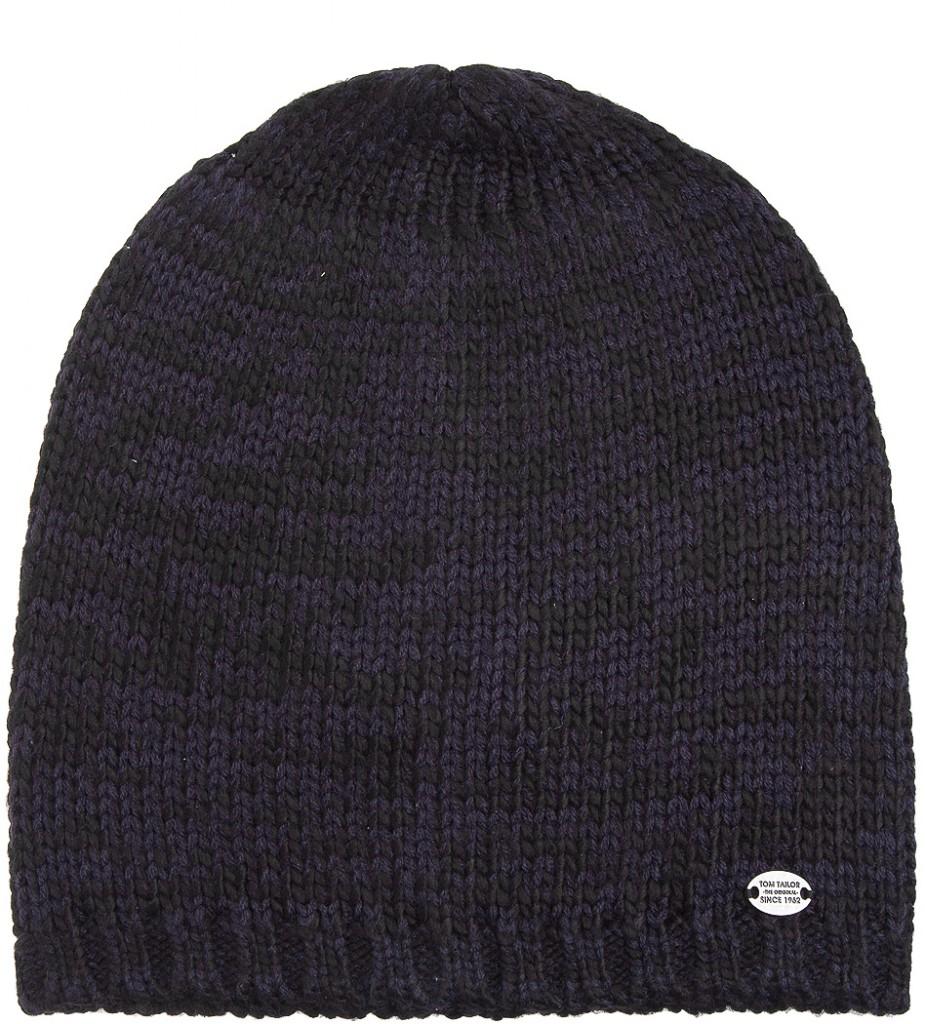 шапка-носок спицами схема с описанием с помпоном женская