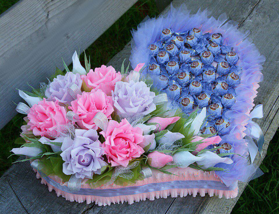 Букеты цветов из бумаги гофрированной бумаги своими руками