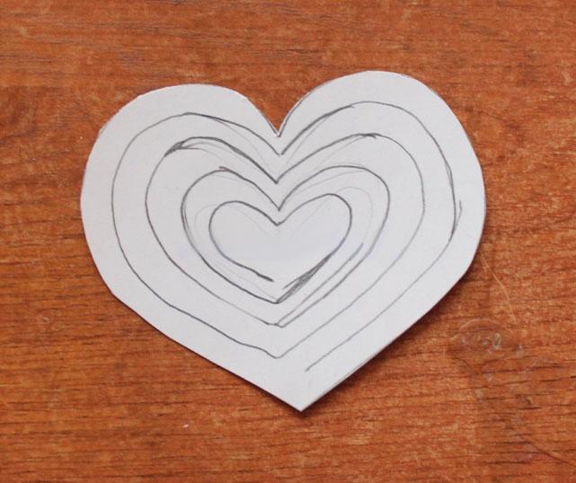 Открытка в форме сердца