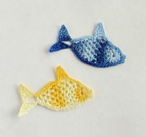 вязаные рыбки