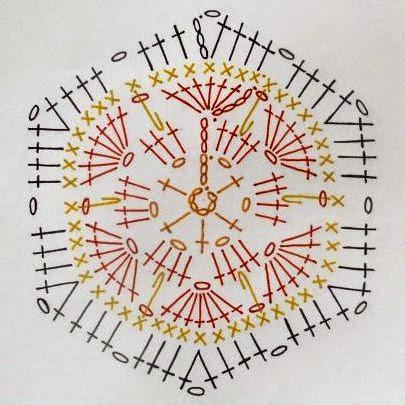 Лягушка из мотивов крючком схема и описание