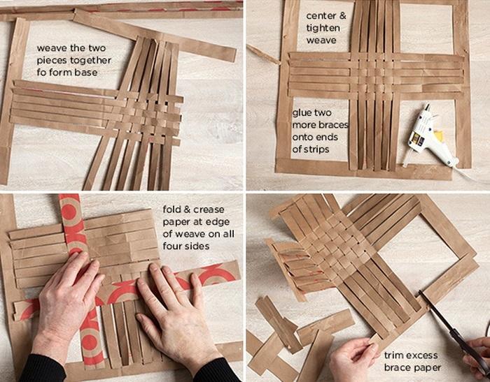 Плетение корзины из бумаги презентация