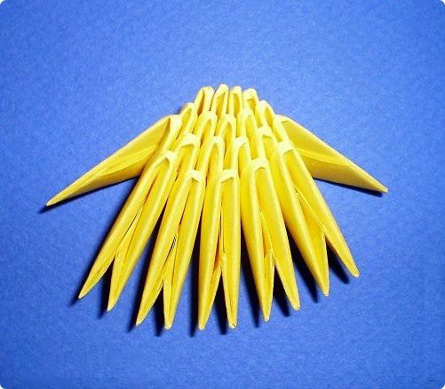 Пасхальный цыплёнок оригами