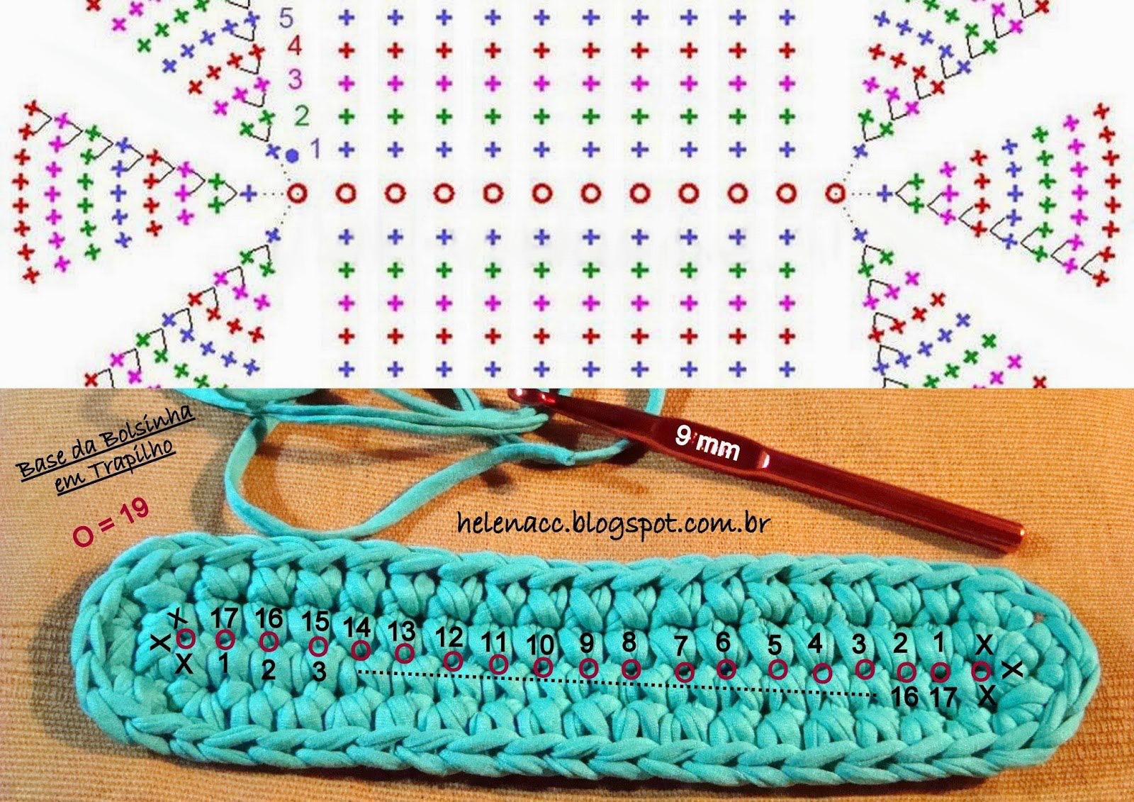 схема летней сумки крючком для начинающих