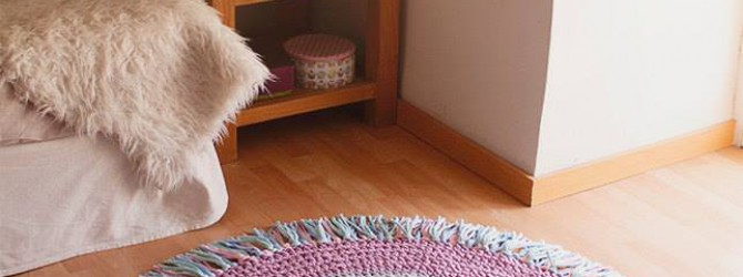 Красивые коврики из старых вещей
