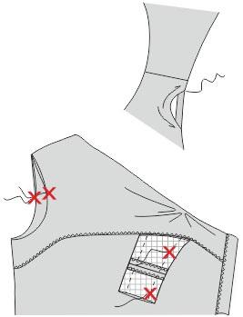 Обработка горловины и пройм