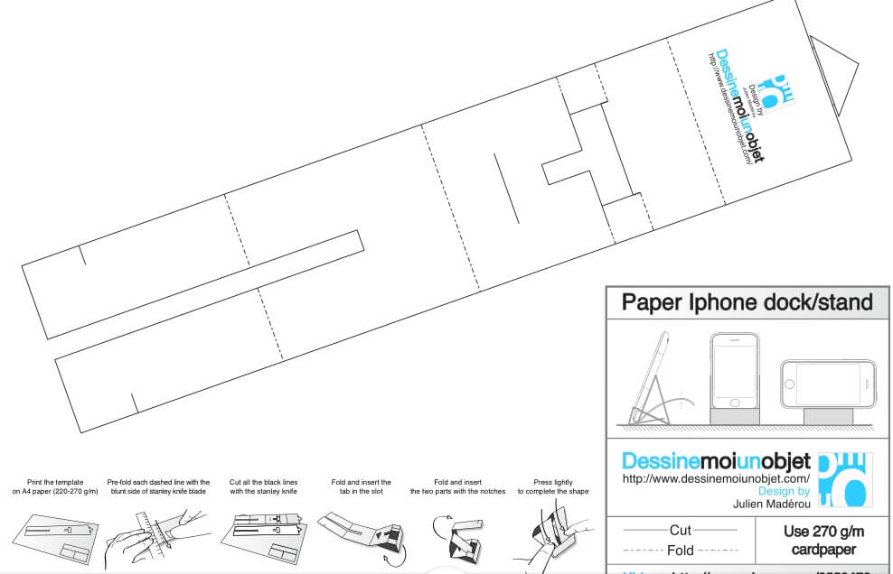 Подставка оригами для телефона