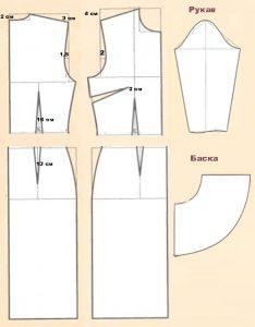 Платье с баской выкройка