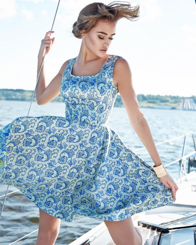 Пошив платья с юбкой полусолнце