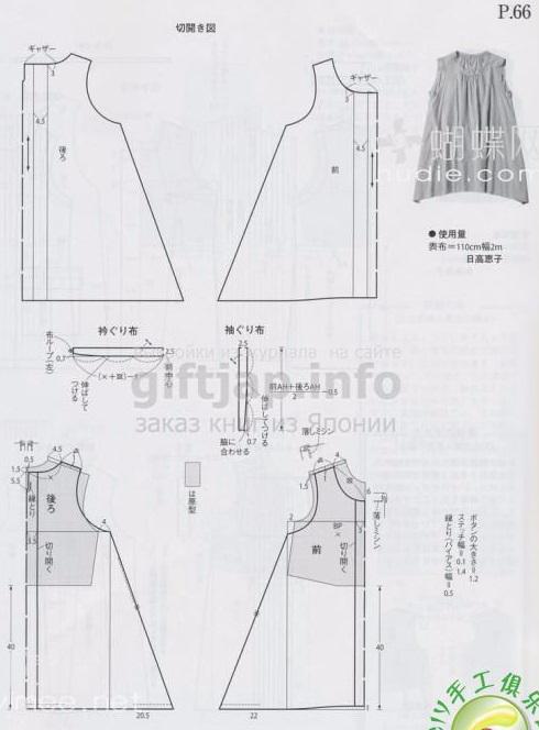 Выкройка простого джинсового