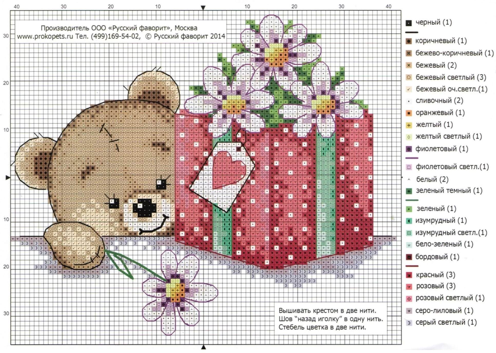 Схема вышивки крестом 10 15