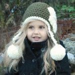 Шапка на спицах для любимой дочки