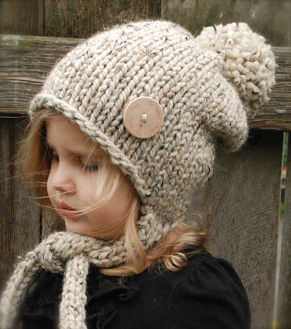 шапка спицами для девочки пошагово