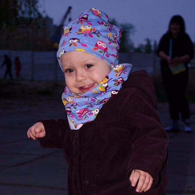 Сшить шапку и снуд детский 131
