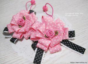 Резинки для волос Розы (мастер-класс)