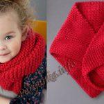 Длинный модный платок на ребёнка