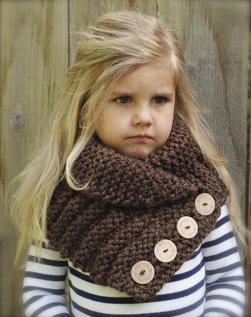 Связать детский шарф снуд спицами - проще простого