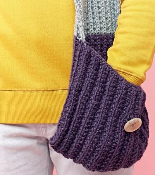 Модный шарф с карманами