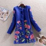 Пальто с вышивкой — фото и схемы