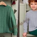 Связать свитер для мальчика — модные модели