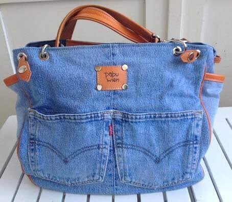 a79ef234bf4d Сшить сумку из старых джинсов - выкройки и мастер-классы для вас!