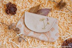 Клатчи из ткани - выкройки и декор