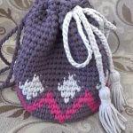 Связать рюкзак крючком из ленточной пряжи — пошагово с фото