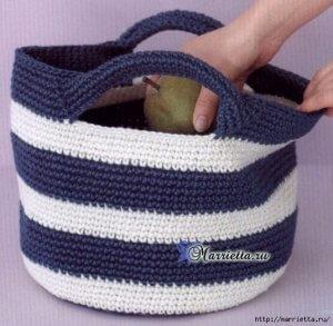 Схемы для сумки крючком