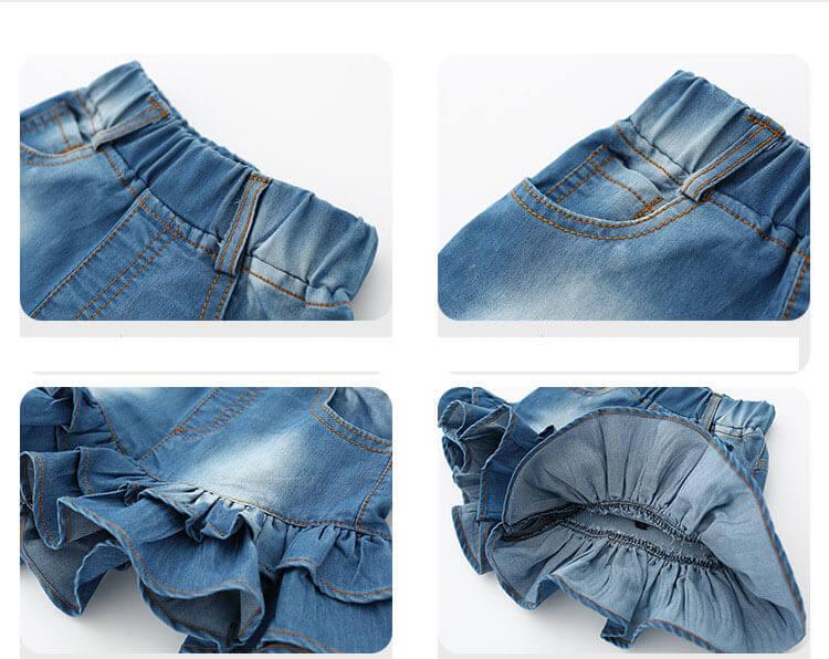 Как сшить девочке юбку из старых джинсов своими руками выкройки 15