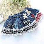 Модные детские юбки из старых джинс — выкройки и описание