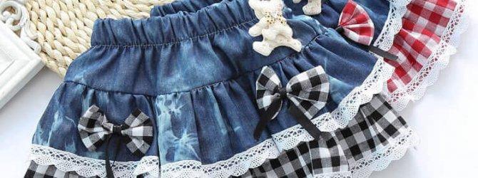 Джинсовая юбка детская выкройка