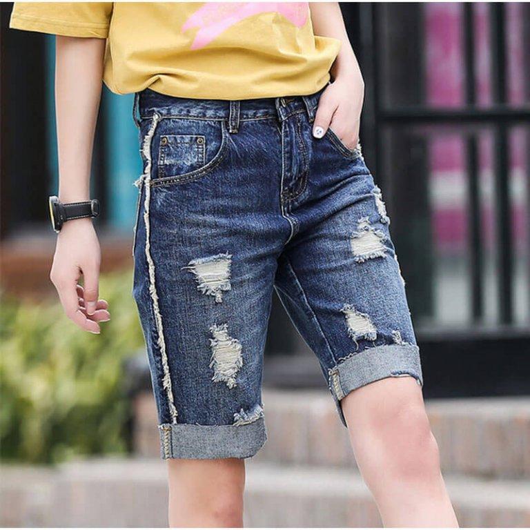 Как из старых мужских джинсов сделать модные 4