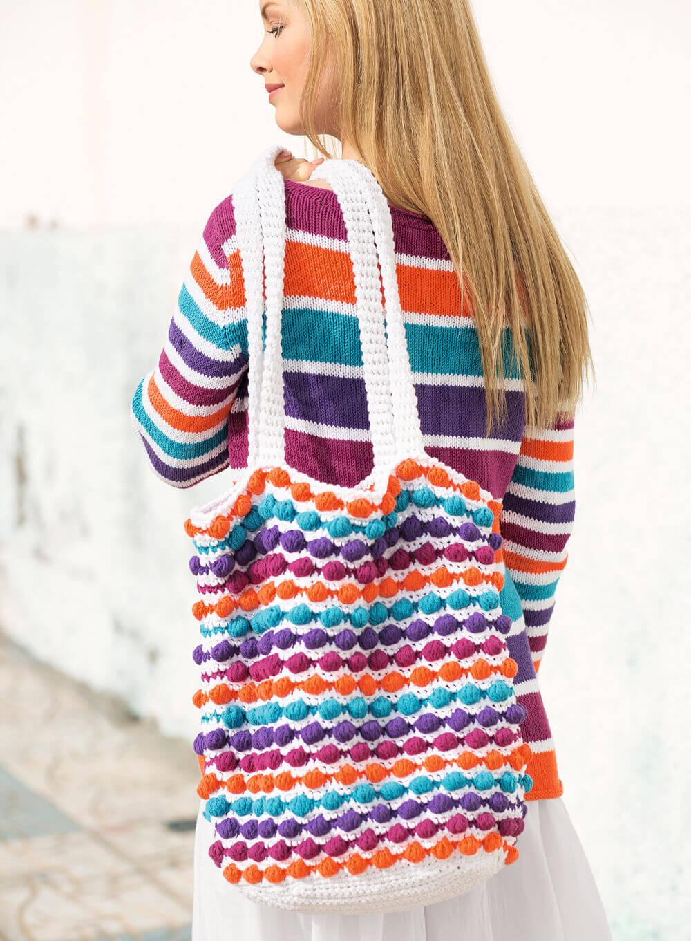 Вязание крючком пляжные сумки 22