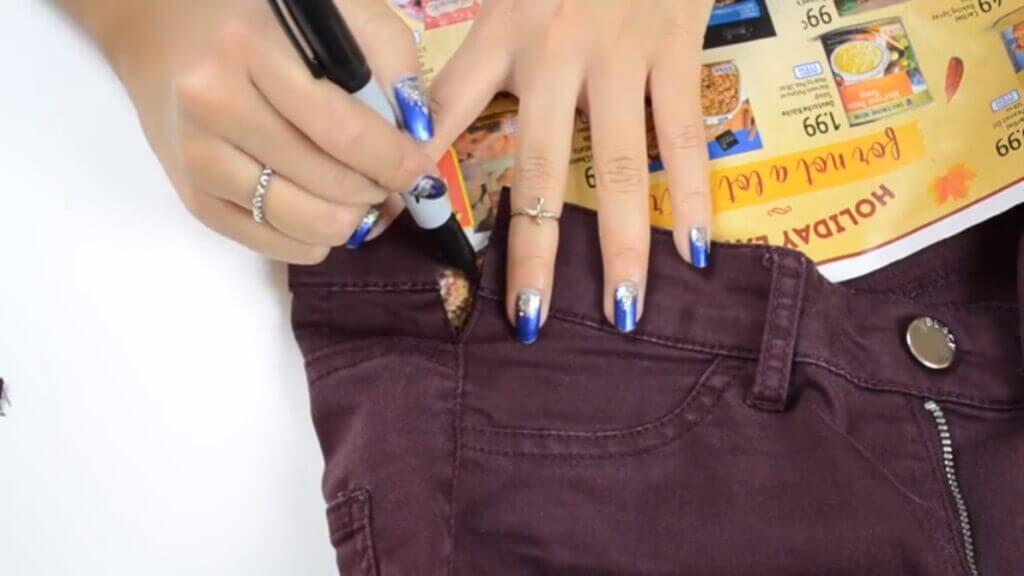 Как увеличить пояс на джинсах (мастер-класс)