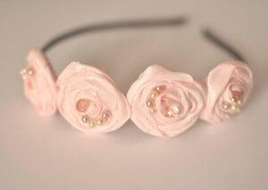 Цветы из скрученной ткани